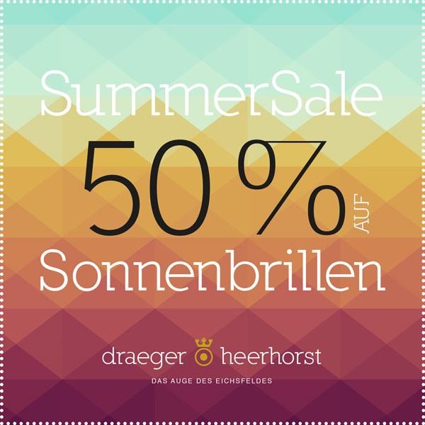 Summer Sale – 50% auf Sonnenbrillen